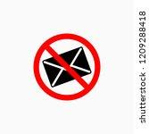 no spam icon  no mail vector | Shutterstock .eps vector #1209288418