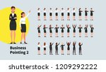 business woman pointing index... | Shutterstock .eps vector #1209292222