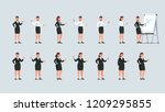 businesswomen standing ... | Shutterstock .eps vector #1209295855