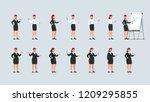 businesswomen standing ... | Shutterstock .eps vector #1209295855