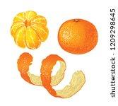 Set Of Whole Tangerine  Peeled...