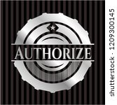 authorize silvery shiny badge | Shutterstock .eps vector #1209300145
