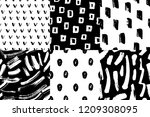 vector seamless pattern set.... | Shutterstock .eps vector #1209308095