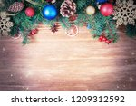 christmas holiday new year... | Shutterstock . vector #1209312592