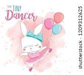 the tiny dancer bunny | Shutterstock .eps vector #1209312625