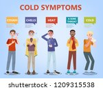 cold and flu symptoms... | Shutterstock .eps vector #1209315538