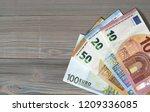 money euro euros bill banknotes ... | Shutterstock . vector #1209336085