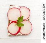 top view of healthy sandwich on ... | Shutterstock . vector #1209337525
