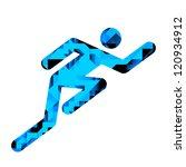 human male racing pictogram... | Shutterstock . vector #120934912