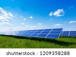 image of a big solar plant | Shutterstock . vector #1209358288