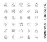 baby stuff line icon set | Shutterstock .eps vector #1209358642