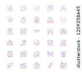 date night gradient outline... | Shutterstock .eps vector #1209358645