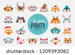 collection of winter animal...   Shutterstock .eps vector #1209393082