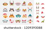 collection of winter animal... | Shutterstock .eps vector #1209393088