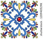 mexican talavera ceramic tile... | Shutterstock .eps vector #1209405298