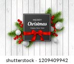 christmas holiday design.... | Shutterstock .eps vector #1209409942