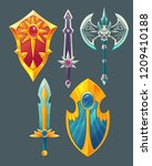 set of fantasy items  fairy...