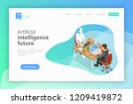 flat isometric vector landing... | Shutterstock .eps vector #1209419872