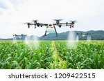 agriculture drone fly to... | Shutterstock . vector #1209422515