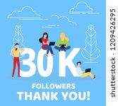 thank you 30000 followers... | Shutterstock .eps vector #1209426295