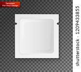 blank white plastic sachet for... | Shutterstock .eps vector #1209433855