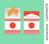 pack of cigarettes isolated on... | Shutterstock .eps vector #1209440278