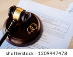 divorce decree in and two...   Shutterstock . vector #1209447478