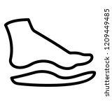 shoe orthotics isolated icon... | Shutterstock .eps vector #1209449485