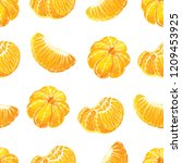 seamless pattern with peeled... | Shutterstock .eps vector #1209453925