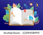 book festival concept of a... | Shutterstock .eps vector #1209458995