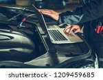 vehicle computer checkup and... | Shutterstock . vector #1209459685