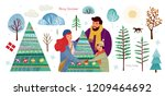 happy family celebrate... | Shutterstock .eps vector #1209464692