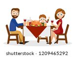 young family father  mother and ... | Shutterstock .eps vector #1209465292
