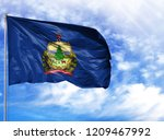 Flag State Of Vermont On A...