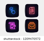 neon glow lights. set of...