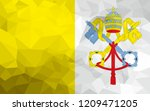 vatican city polygonal flag.... | Shutterstock . vector #1209471205