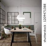 interior of a comfortable home... | Shutterstock . vector #1209471388