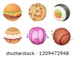 planets from food. space set... | Shutterstock .eps vector #1209472948
