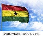 national flag of ghana on a...   Shutterstock . vector #1209477148