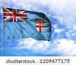 national flag of fiji on a...   Shutterstock . vector #1209477175