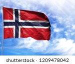 national flag of norway on a...   Shutterstock . vector #1209478042