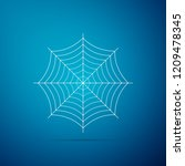 spider web icon isolated on... | Shutterstock . vector #1209478345