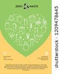 vector zero waste icon logo... | Shutterstock .eps vector #1209478645