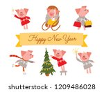 symbol of the chinese  2019 new ... | Shutterstock .eps vector #1209486028