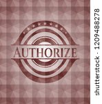 authorize red seamless badge... | Shutterstock .eps vector #1209488278