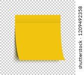 yellow post note sticker.... | Shutterstock .eps vector #1209492358