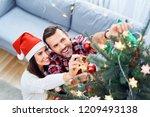 portrait of joyful couple... | Shutterstock . vector #1209493138