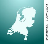 vector map of netherlands | Shutterstock .eps vector #1209493645