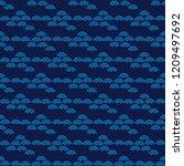 beautiful japanese seamless...   Shutterstock .eps vector #1209497692