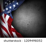 closeup of american flag on... | Shutterstock . vector #1209498352